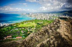 Diamond Head Towards Waikiki (Photographer X™) Tags: hawaii diamond head crater waikiki nikon coolpixa