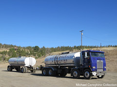 "LYB Asphalt Supply & Trucking ""Twin Steer"" Freightliner FLA Cabover (Michael Cereghino (Avsfan118)) Tags: lyb asphalt supply trucking freightliner fla cabover coe engine cab over tanker truck twin steer transportation semi daycab hot oil tar"