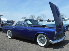 1955 Ford Thunderbird (splattergraphics) Tags: 1955 ford thunderbird carshow carlisle springcarlisle carlislepa