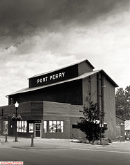 Port Perry (DelioTO) Tags: 4x5 antiquities architecture blackwhite canada d23 f317 fomapan100 historical landscape ontario pinhole rural toned trip