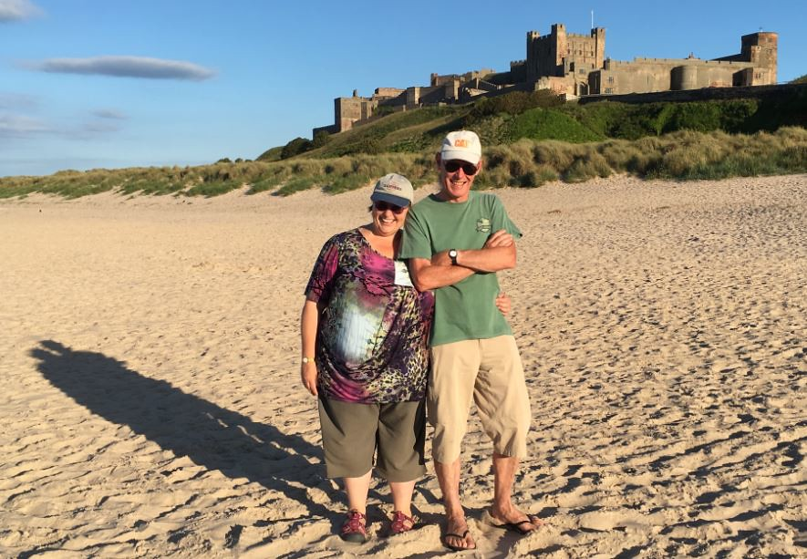 180708 Bamburgh Castle - Jane & Gary