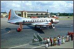 """N94237 American Airlines """"Flagship Akron"""" (Bob Garrard) Tags: n94237 american airlines flagship akron convair 240 600 central frontier jet industries wright smb stage lines kitty hawk airways cm kcmh"""