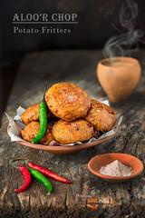 Aloo Chop   Stuffed Potato Fritters (Rimli D) Tags: foodstyling foodblog foodphotography foodblogger foodpicture foodporn food indianfood fastfood comfortfood bengalifood bangladeshifood streetfood telebhaja nikkor nikon snack desikhana fritters