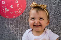 Baby Zayla-24 (Andy barclay) Tags: baby happy birthday 1st toddler girl cake smash one first smile messy portrait young pink
