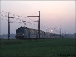 La Z 5391 vient de quitter Rambouillet le 06 juin 2007, TER Paris-Montparnasse - Chartres.