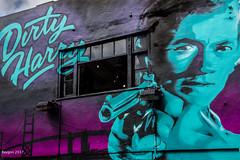 The answer (ericbaygon) Tags: clint dirty harry movie film tag graffiti color vivid d750 nikon eastwood brighton gun arme
