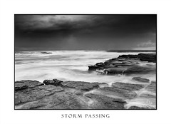 Stormy clouds awaken the seas (sugarbellaleah) Tags: sea ocean seascape clouds storm waves rocks rockshelf surf tide tidal nature water movement flow flowing pretty swells light moody rain stormy coast seaside eroded turimetta australia travel tourism blackandwhite outdoor