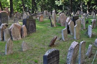 Ancien cimetière juif de Prague, Josefov, Prague, République tchèque.