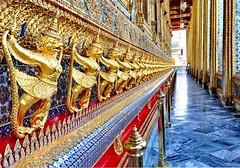Grand Palace, Bangkok (meren34) Tags: thailand grandpalace budha gold temple bangkok emeraldbuddha guards statue jewels colors decorated illustrated photo thai travel