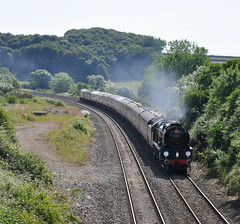 Classical Upton (James Passant) Tags: trains trainspotting steam train west country 34052 34046 braunton lord dowding kettle upton somerset railways uk passenger 1z27 bristol temple meads kingswear locomotive services