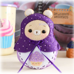 Matryoshka Bear 🐻💜 (hellofelt) Tags: matryoshkadoll russinadoll bear kitty bunny plushies handmade etsy seller pdf pattern