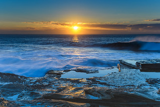 Glowing Sunrise Seascape