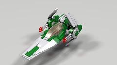 Rebel V-Wing Starfighter Flight Mode (hornjesse896) Tags: legostarwars lddtopovray vwing starfighter rebel minifigures pilot astromechdroid