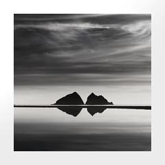 Bow Tie (Nick green2012) Tags: holywell bay square silence island blackandwhite seascape minimal