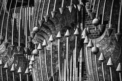 Unexpected Abstract Art (dougbank) Tags: outdoors outside art artsy horizontal abstract sculpture scotland glasgow blackandwhite aurorahdr topaztextureeffects
