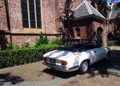 Going to the chapel... (Martin van Duijn) Tags: 1965 alfaromeo giulia gtc alfa roadster cabrio kabrio spider convertible cabriolet katwijk katwijkaandenrijn katwijkbinnen dorpskerk church wedding marriage