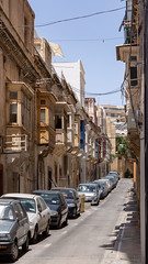 Sliema Neighbourhood (Lee Rosenbaum) Tags: sliema malta balcony architecture cars street tassliema mt