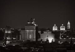 Rome by night, Il Vittoriano and other ancient domes (al.scuderi71) Tags: roma rome vittoriano il night light panasonic gh4 on1 on1pics on1photoraw 2018 architecture