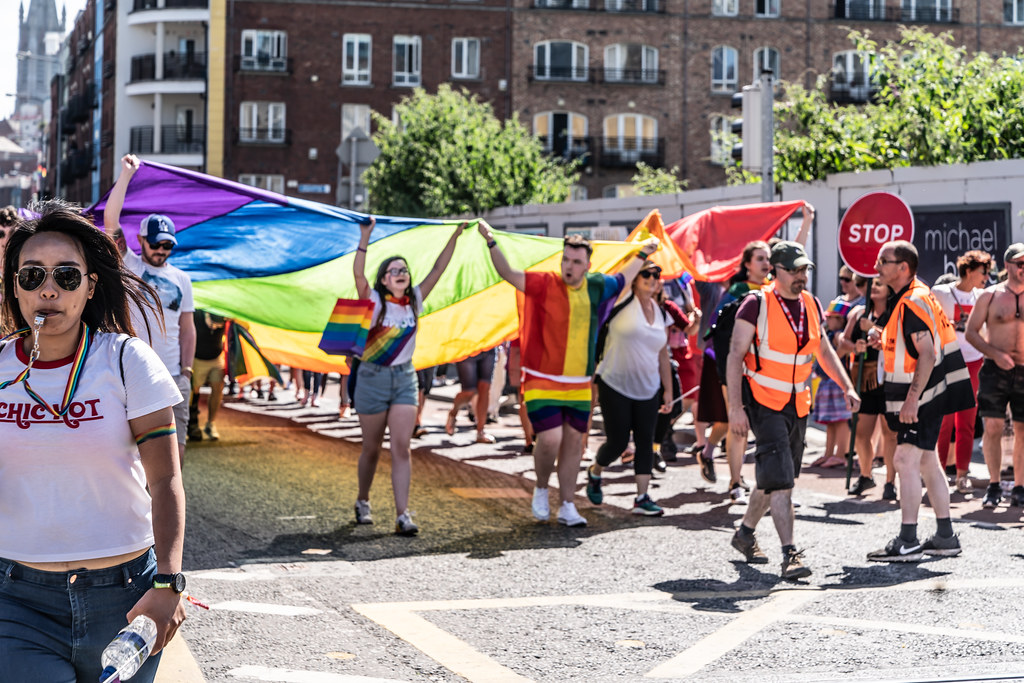 ABOUT SIXTY THOUSAND TOOK PART IN THE DUBLIN LGBTI+ PARADE TODAY[ SATURDAY 30 JUNE 2018] X-100039