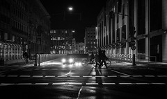 One Night in Düsseldorf (ThorstenKoch) Tags: street streetphotography schatten stadt strasse shadow schwarzweiss silhouette night nacht düsseldorf duesseldorf fuji fujifilm xt10 thorstenkoch blackwhite bnw bike city candit pov photography people photographer germany urban licht lights lines linien light outdoor art architecture architektur grain monochrome