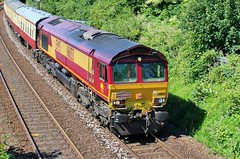 EWS - DB Cargo 66133 - Mansfield (the mother '66' 66001) Tags: ews dbschenker dbcargo class66 66133 66140 mansfield robinhoodline railways rail nottinghamshire