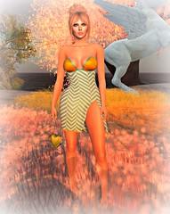 Zigs and Zags (Slightly FASHIONABLE) Tags: sl secondlife virtualfashion straplessdress cosmopolitanevent gizseorn
