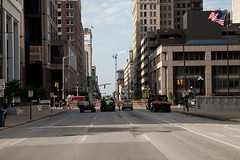 Sinkhole, Pennsylvania & Ohio Streets, Indianapolis, Indiana (Roger Gerbig) Tags: indianapolis indiana downtown sinkhole rogergerbig fullframe