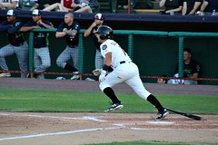 HEADING TO FIRST (MIKECNY) Tags: tricityvalleycats astros hit run baseball nypennleague minorleague