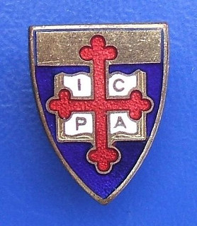 ICPA unidentified religious badge (1960's or earlier)