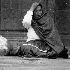 meanwhile, just outside the church (msdonnalee) Tags: woman mexicanwoman candid mendicant poverty mexico mexique mexiko messico elderlywoman streetshot