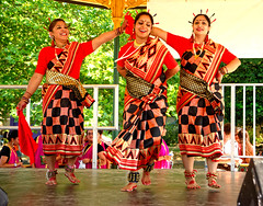 Indian Dancers (Geoff Henson) Tags: indian dancers women people mela festival costumes traditional dress