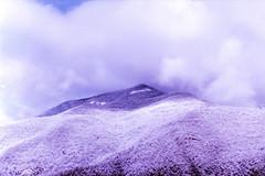 Solaris (Tamar Burduli) Tags: analog film color 35mm surreal psychedelic landscape nature mountain mountains snow forest winter solaris clouds cloudporn purple violet travel georgia ananuri sky skyscape tamarburduli zenit kodak