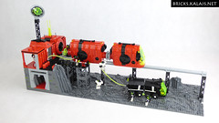 [MOC] M:tron monorail (BricksTreasure) Tags: mtron moc lego space monorail blacktron classicspace train spacebase