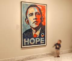Forget me not! (Tim Brown's Pictures) Tags: washingtondc nationalportraitgallery smithsonian barack obama barackobama portrait hope artist shepardfairey