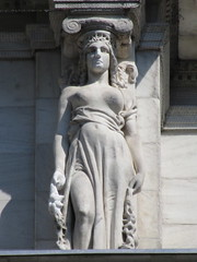 Mysterious Woman Dame Summer Caryatid NYC 5410 (Brechtbug) Tags: mysterious woman dame summer caryatid stone ladies courthouse roof statues across from madison square park new york city atlantid 2018 nyc 07152018 art architecture gargoyle gargoyles statue sculpture sculptures facade figures column columns court house law government building lady women figure form far east buildings season seasons fall