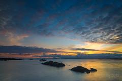 Rossadillisk Sunset (micallrob) Tags: connemara ireland sea sunset sky rocks longexposure beach stones