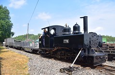 Baldwin Locomotive 778 approaches the station area, with a train of WD Bogie wagons & Ambulance Van. Apedale Railway Track to the Trenches. 13 07 2018 (pnb511) Tags: trains locomotive railway steam engine baldwin 778 narrow gauge 2footgauge trackstothetrenches ww1 apedalelightrailway narrowgauge staffordshire 460