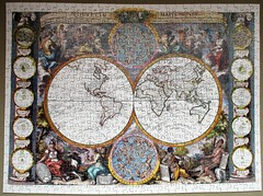 Nouvelle Mappe Monde (pefkosmad) Tags: jigsaw puzzle hobby leisure pastime complete used secondhand wooden plywood wood handcut optimago nouvellemappemonde bailleullejeune facsimile