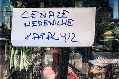 Closed (Melissa Maples) Tags: antalya turkey türkiye asia 土耳其 apple iphone iphonex cameraphone summer me melissa maples selfportrait woman glass reflection türkçe text sign window cenazenedeniylekapalıyız shop