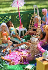 Afternoon at the Pool (Annette29aag) Tags: barbie doll pool poolparty fashionista madetomove diorama outdoor photography annette29aag