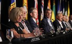 Premier/première ministre Notley at the closing news conference/à la conférence de presse de clôture