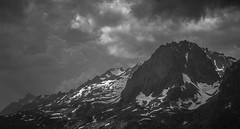 Sombre Présage sur le Belvédère (Frédéric Fossard) Tags: névé ciel sky nuages clouds lumière mountainside cimes crêtes arêtes vallon mountainpass coldubelvédère chamonix alpes hautesavoie mountainrange mountainridge monochrome noiretblanc blackandwhite mountain landscape vallée valley alpenglow contraste glacier pierrier lacblanc paroirocheuse atmosphère dramatique nature sauvage weather moodysky orage altitude wilderness blackwhitepassionaward