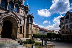 Sankt Pauli church (Maria Eklind) Tags: buidling sky moln sweden malmö church stpauli architecture sanktpaulikyrka city streetview kyrka europe street clouds skånelän sverige se
