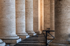 Sunday walk (thewhitewolf72) Tags: piazzasanpietro roma italy rome columns walking colonnades vatican dove