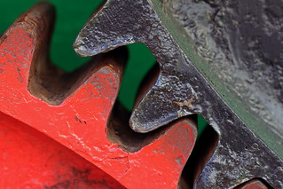 Wheel gears of a traction engine