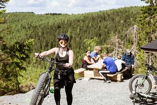 Efatbike riders on a break