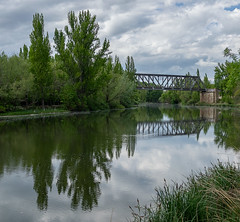 Soria - Puente de hierro (dnieper) Tags: puente ferrocarril castejónsoria ríoduero soria spain españa panorámica