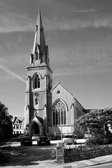 St John's / Weymouth (Images George Rex) Tags: b1fd70cbcbb74e45acd87bb892c84e33 weymouth dorset uk england photobygeorgerex unitedkingdom britain imagesgeorgerex church architecture gothicrevival neogothic portlandstone steeple tower spire clock decoratedgothic monochrome bw blackandwhite broachspire fujifilmx100s xtrans