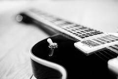 23/52 Mechanic (POStaes) Tags: canon canon5d blackwhite bw monochrome blackandwhite noiretblanc blancoynegro project52 detail bokeh music guitar electricguitar hagstrom instrument