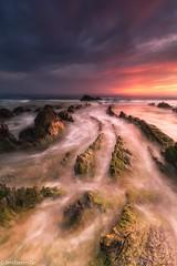 That Life is an Instant (IrreBerenTe Natalia Aguado) Tags: clouds sky playabarrika sea dragon rocks sunset longexposure beach nataliaaguadoirreberente nature naturelandscape euskadi barrika thatlifeisaninstant